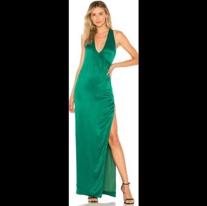 NBD Beverly Blvd Gown in emerald green NWT